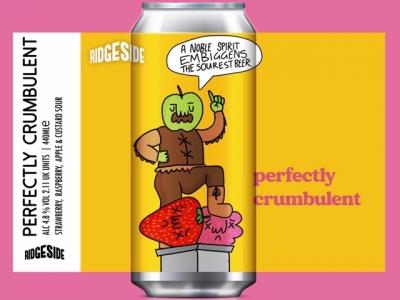Ridgeside – Perfectly Crumbulent – Strawberry, Raspberry, Apple & Custard Sour