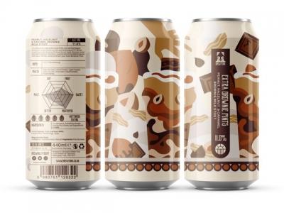Brew York – Extra Brownie Pints – Peanut, Hazelnut & Caramel Brownie Milk Stout