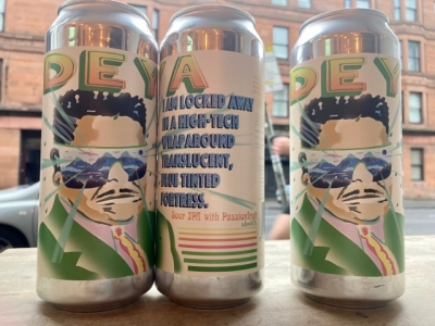 Deya – I Am Locked Away In A High-tech, Wraparound, Translucent, Blue-tinted Fortress – Passionfruit Sour IPA